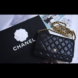 Chanel authentic woc with gold hardware
